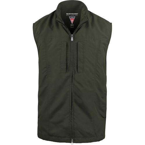 SCOTTeVEST RFID Travel Vest for Men (Small, Olive)