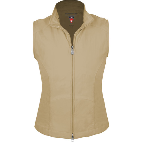 SCOTTeVEST RFID Travel Vest for Women (Medium, Khaki)