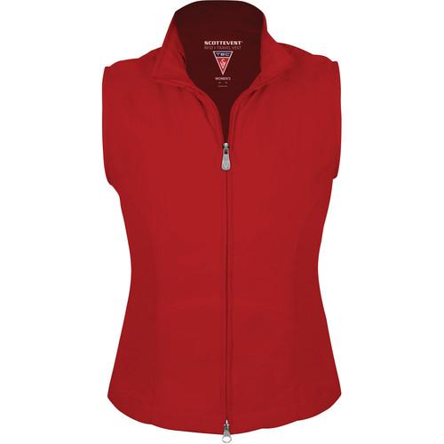SCOTTeVEST RFID Travel Vest for Women (Medium, Red)