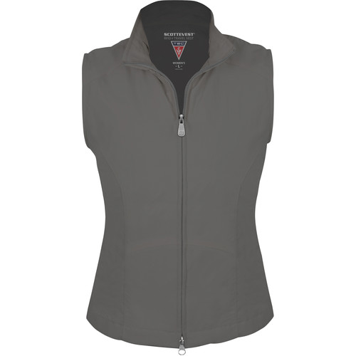 SCOTTeVEST RFID Travel Vest for Women (Small, Gray)