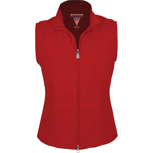 SCOTTeVEST RFID Travel Vest for Women (XL, Red)