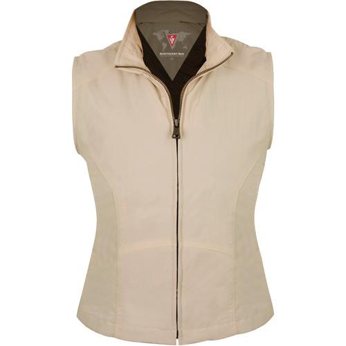SCOTTeVEST Travel Vest for Women (Large, Khaki)
