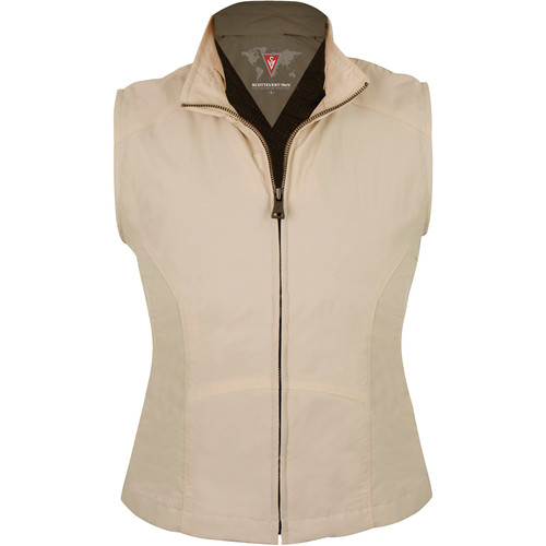SCOTTeVEST Travel Vest for Women (Medium, Khaki)