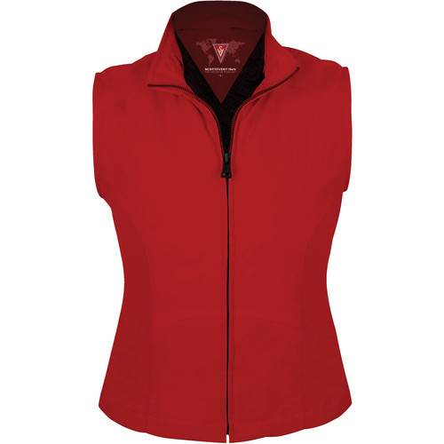 SCOTTeVEST Travel Vest for Women (Medium, Red)
