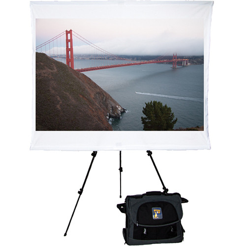 """Screen2Go SS2G-818 Safari 75"""" Portable Front Projection Screen with Briefcase"""
