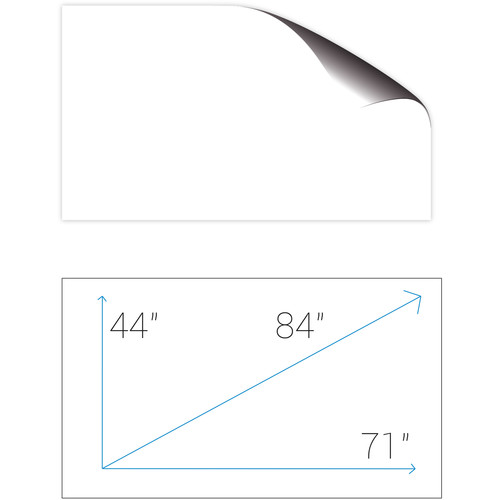 "Screenline SA180GFR ScreenApp 44.3 x 70.9"" Whiteboard Adhesive Film Screen"