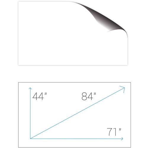 "Screenline SA180GFR ScreenApp 112.5 x 180"" Whiteboard Adhesive Film Screen"