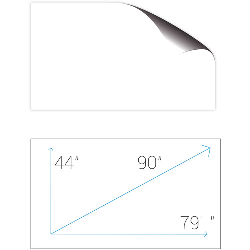"Screenline SA201GFR ScreenApp 48 x 77"" Whiteboard Adhesive Film Screen"