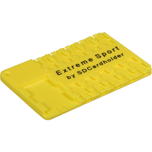 SD Card Holder Extreme Sport Micro SD Cardholder (Yellow)