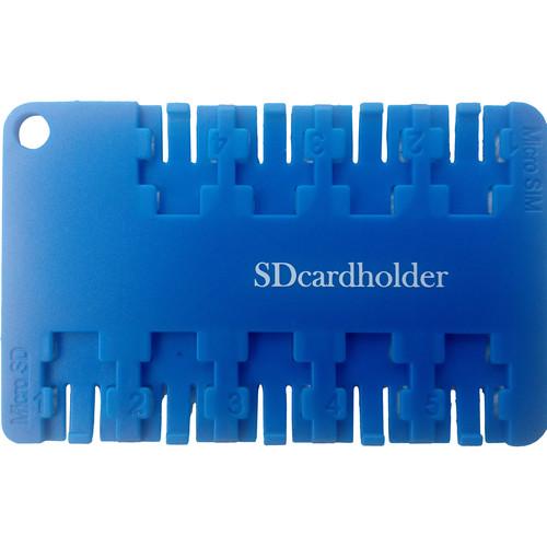 SD Card Holder Micro SIM & Micro SD Card Holder (Blue)