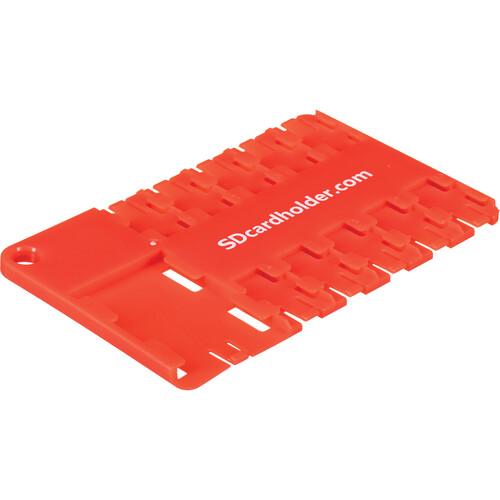 SD Card Holder microSD 10 Slot Cardholder (Red)