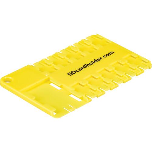 SD Card Holder microSD 10 Slot Cardholder (Yellow)