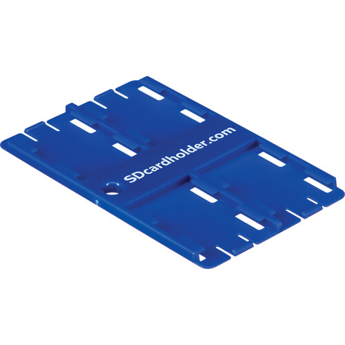 SD Card Holder Standard SD Memory Card 4 Slot Holder (Blue)