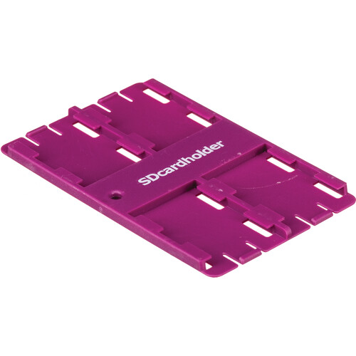 SD Card Holder Standard SD Memory Card 4 Slot Holder (Purple)