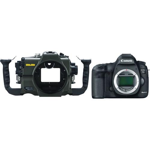 Sea & Sea MDX-5DMKIII Underwater Housing and Canon EOS 5D Mark III DSLR Camera Body Kit