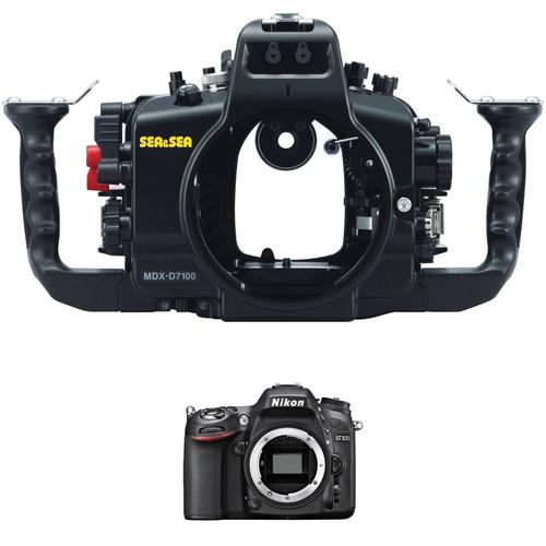 Sea & Sea MDX-D7100 Underwater Housing and Nikon D7100 DSLR Camera Body Kit
