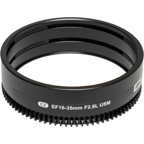 Sea & Sea Zoom Gear for Canon 16-35mm f/2.8 III USM Lens in Port on MDX or RDX Housing
