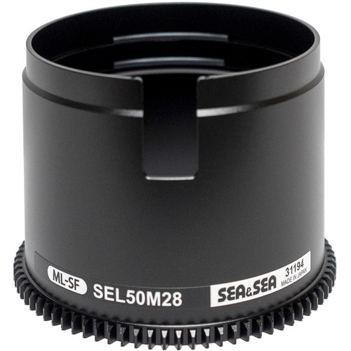 Sea & Sea Focus Gear for Sony FE 50mm f/2.8 Macro Lens in Port on MDX Mirrorless Housings