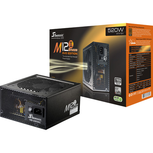 SeaSonic Electronics M12II Bronze Evo Edition SS-520GM2 520W Modular Power Supply