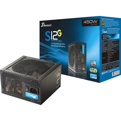SeaSonic Electronics S12G Series SSR-450RT Active PFC F3 450W 80 PLUS Gold Certified Power Supply Unit