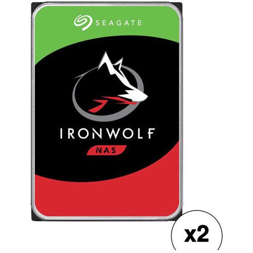 "Seagate 10TB IronWolf 7200 rpm SATA III 3.5"" Internal NAS HDD Kit (2-Pack)"
