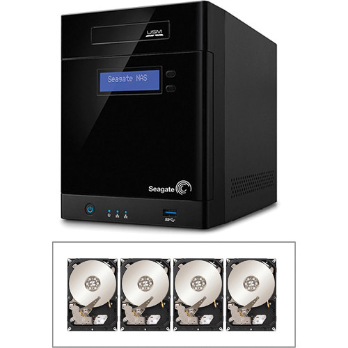 Seagate 12TB (4 x 3TB) 4-Bay NAS Server Kit with Hard Drives