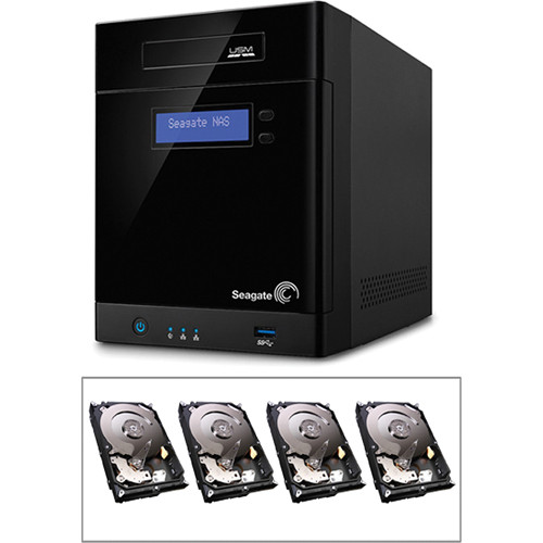 Seagate STBP100 16TB (4 x 4TB) 4-Bay NAS Server Kit with Hard Drives