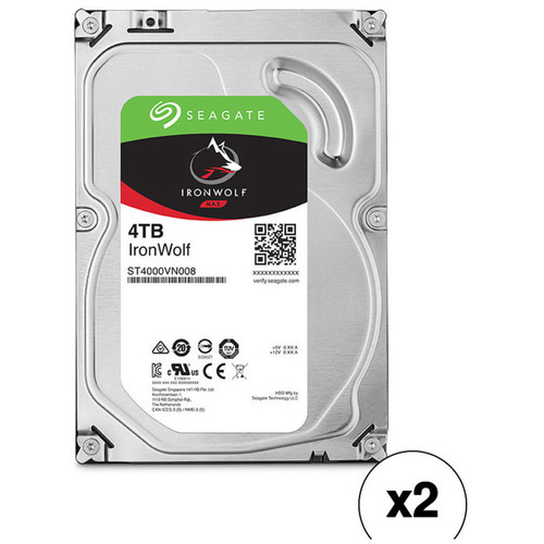 "Seagate 4TB IronWolf 5900 rpm SATA III 3.5"" Internal NAS HDD Kit (2-Pack)"