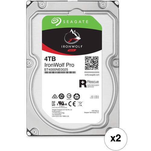 "Seagate 4TB IronWolf Pro 7200 rpm SATA III 3.5"" Internal NAS HDD Kit (2-Pack)"