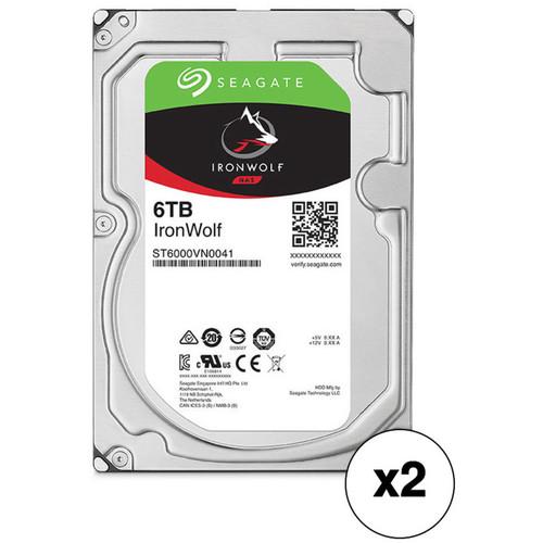"Seagate 6TB IronWolf 7200 rpm SATA III 3.5"" Internal NAS HDD Kit (2-Pack)"