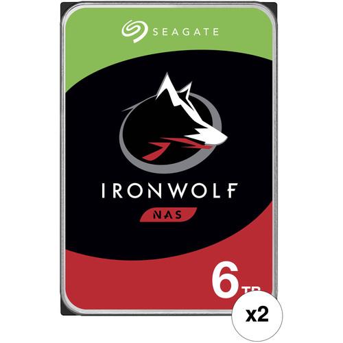 "Seagate 6TB IronWolf 5400 rpm SATA III 3.5"" Internal NAS HDD (Retail, 2-Pack)"