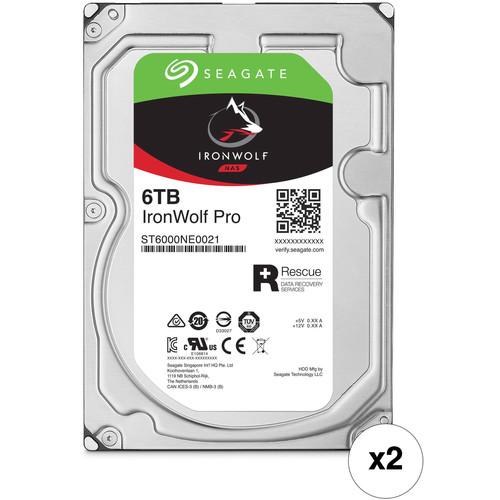"Seagate 6TB IronWolf Pro 7200 rpm SATA III 3.5"" Internal NAS HDD Kit (2-Pack)"