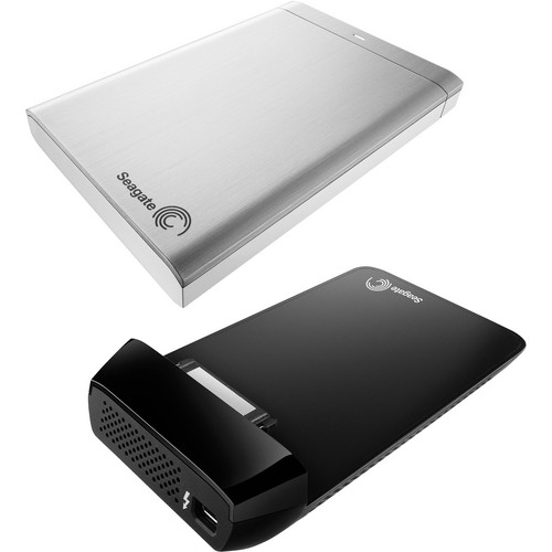 Seagate 1TB Backup Plus Portable Hard Drive Kit with Thunderbolt Adapter (Silver)