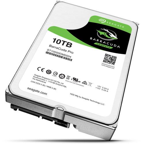 "Seagate 10TB BarraCuda Pro 7200 rpm SATA III 3.5"" Internal HDD"