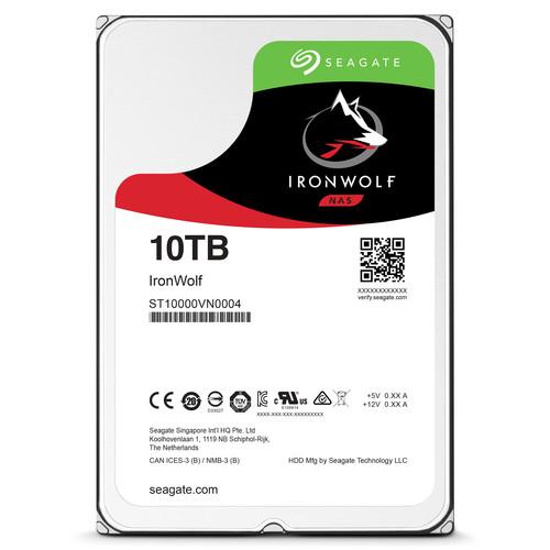 "Seagate 10TB IronWolf 7200 rpm SATA III 3.5"" Internal NAS HDD"