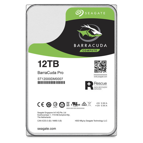 "Seagate 12TB BarraCuda Pro 7200 rpm SATA III 3.5"" Internal HDD"