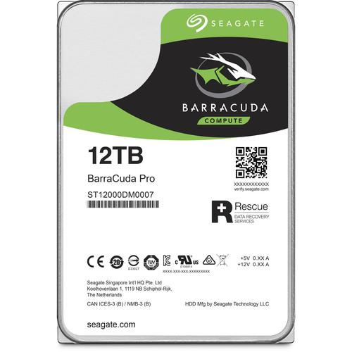 "Seagate 12TB BarraCuda Pro 7200 rpm SATA III 3.5"" Internal HDD"