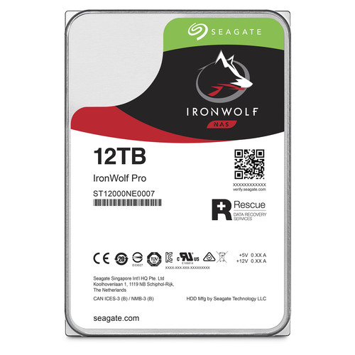 "Seagate 12TB IronWolf Pro 7200 rpm SATA III 3.5"" Internal NAS HDD"