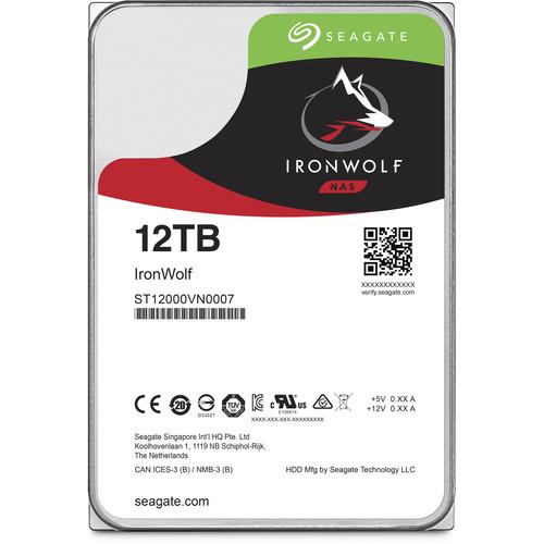 "Seagate 12TB IronWolf 7200 rpm SATA III 3.5"" Internal NAS HDD"