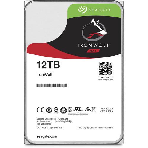 "Seagate 12TB IronWolf 7200 rpm SATA III 3.5"" Internal NAS HDD (CMR, Retail)"