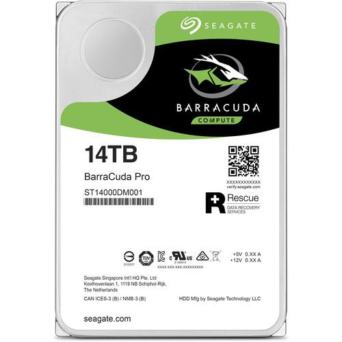 "Seagate 14TB BarraCuda Pro 7200 rpm SATA III 3.5"" Internal HDD"