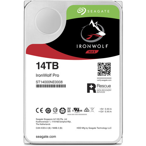 "Seagate 14TB IronWolf Pro 7200 rpm SATA III 3.5"" Internal NAS HDD"