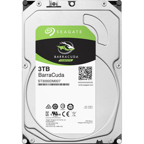 "Seagate 3TB BarraCuda 5400 rpm SATA III 3.5"" Internal HDD (Retail)"