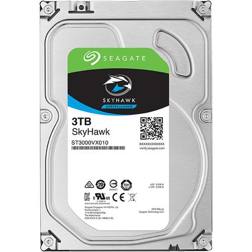 """Seagate 3TB SkyHawk 5400 rpm SATA 3.5"""" Internal HDD"""