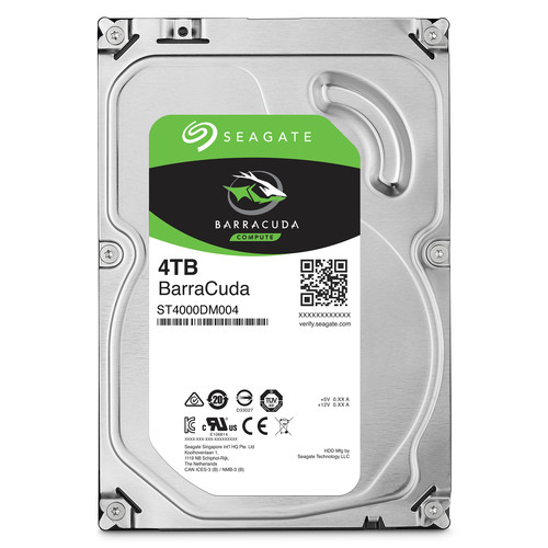 """Seagate 4TB BarraCuda 5400 rpm SATA III 3.5"""" Internal HDD (Retail)"""