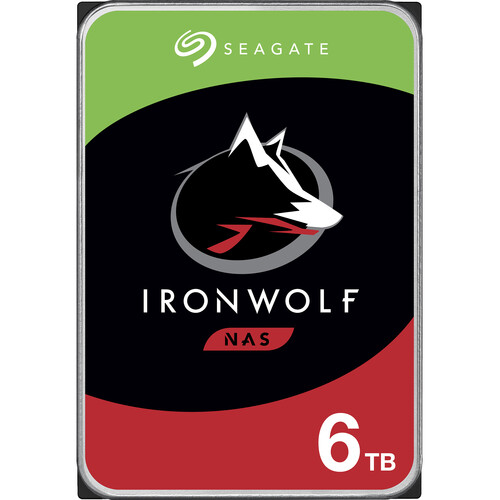 "Seagate 6TB IronWolf 7200 rpm SATA III 3.5"" Internal NAS HDD (Retail)"