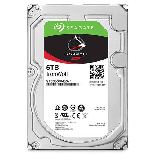 "Seagate 6TB IronWolf 7200 rpm SATA III 3.5"" Internal NAS HDD"