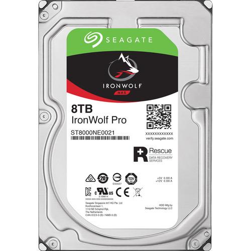 "Seagate 8TB IronWolf Pro 7200 rpm SATA III 3.5"" Internal NAS HDD (Retail)"