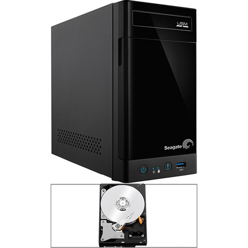 Seagate 4TB (2 x 2TB) STBN100 2-Bay NAS Enclosure Kit with Drives