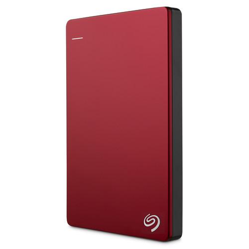 Seagate 2TB Backup Plus Slim Portable External USB 3.0 Hard Drive (Red)
